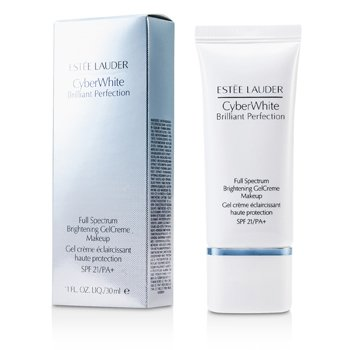 Estee Lauder Cyber White Brilliant Perfection Full Spectrum Maquillaje Gel Crema Blanqueador SPF 21 - # 04 Warm Vanilla  30ml/1oz