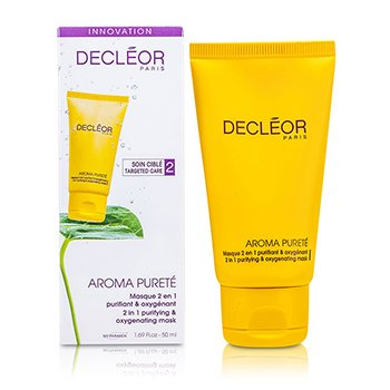 DecleorMascara facial Aroma Purete 2 em 1 Purifying & Oxygenating Mask (Pele mista & oleosa ) 50ml/1.69oz