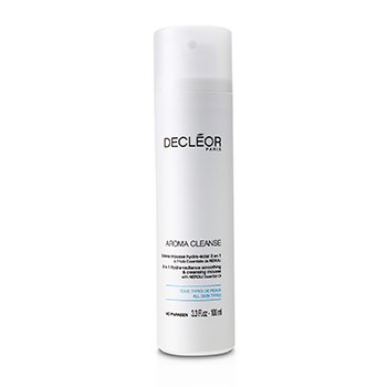 DecleorLo��o de limpeza Aroma Cleanse 3 em 1 Hydra-Radiance Smoothing & Cleansing Mousse 100ml/3.3oz