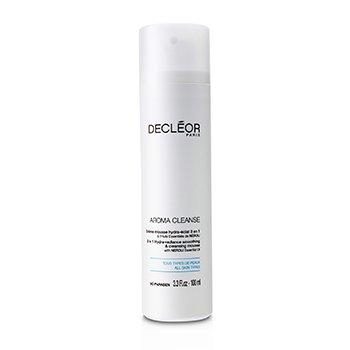 Decleor Aroma Cleanse Mousse desmaquilladora 3 en 1 Hidra Radiancia Suavizante y Limpiadora  100ml/3.3oz