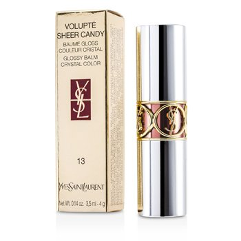 Yves Saint Laurent Volupte Sheer Candy Lipstick (Glossy Balm Crystal Color) - # 13 Griotte Mocha 4g/0.14oz