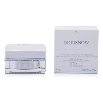 Christian DiorDiorSnow Trắng Reveal Tinh Khiết Transparency Loose Phấn SPF 15 - # 001 Crystal Lilac 14g/0.49oz