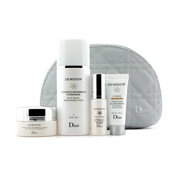 Christian DiorDiorsnow White Reveal Set: Lotion 50ml + Fresh Creme 15ml + BB Cream # 020 10ml + D-NA Control 7ml + Bag 4pcs+1bag