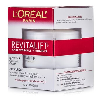 L'OrealRevitaLift Anti-Wrinkle + Firming  Face/ Neck Contour Cream 48g/1.7oz