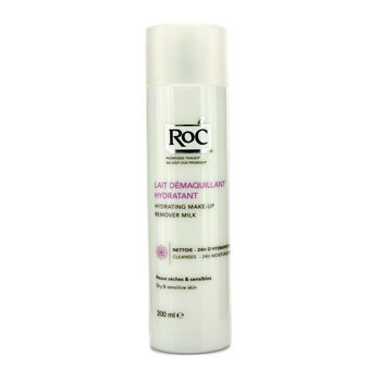 ROC Hydrating Make-Up Remover Milk (For Dry & Sensitive Skin) 200ml/6.8oz