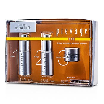 Prevage3-Step Anti-Aging Skincare Regimen Set: Face Advanced Anti-Aging Serum 15ml + Day Ultra Protection Anti-Aging Moisturizer SPF 30 PA++ 15ml + Eye Ultra Protection Anti-Aging Moisturizer SPF 15 PA++ 5ml 3pcs