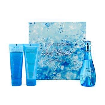 Davidoff Estuche Cool Water: Eau De Toilette Spray 100ml/3.4oz + Loci�n Corporal Hidratante 75ml/2.5oz + Brisa Marina 75ml/2.5oz  3pcs