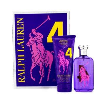 Ralph Lauren Big Pony Collection #4 Purple Coffret: Eau De Toilette Spray 100ml/3.4oz + Hydrating Body Lotion 200ml/6.7oz 2pcs
