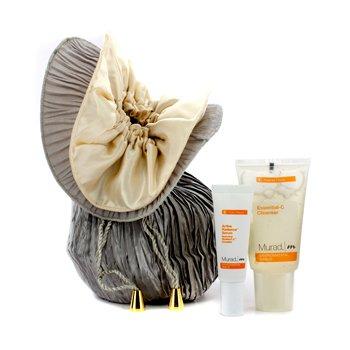 Murad Promotion Set: Essential-C Cleanser 45ml + Radiance Serum 10ml + Bag  3pcs
