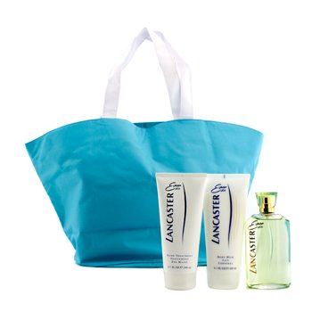 Lancaster Eau De Lancaster Coffret: Edt Spray 125ml/4.2oz + Body Milk 200ml/6.7oz + Hand Treatment 200ml/6.7oz + Hand Bag  3pcs+1bag