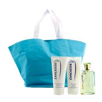Lancaster Eau De Lancaster Coffret: Edt Spray 125ml/4.2oz + Body Milk 200ml/6.7oz + Hand Treatment 200ml/6.7oz + Hand Bag 3pcs+1bag