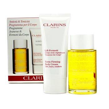 ClarinsKit p/ firmar o corpo: Tonic Body Treatment Oil 100ml + Extra-Firming Body Cream 100ml 2pcs