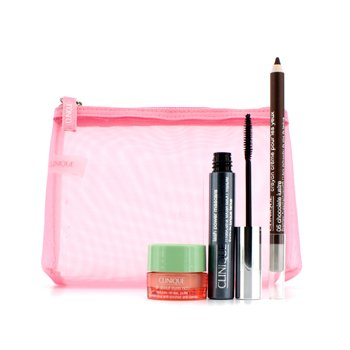 CliniqueSet Power Lashesx M�scara: 1x Lash Power M�scara, 1x All About Eyes Rich, 1x Crema Remodeladora de Ojos, 1x Bolsa 3pcs+1bag