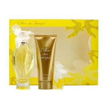 Nina Ricci L'Air Du Temps Coffret: Eau De Toilette Spray 100ml/3.3oz + Body Lotion 100ml/3.3oz + Minature  3pcs