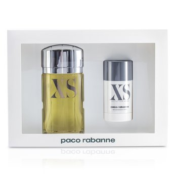 Paco RabanneXS Excess Estuche: Eau De Toilette Spray 100ml/3.3oz + Desodorante en Barra 75ml/2.2oz 2pcs