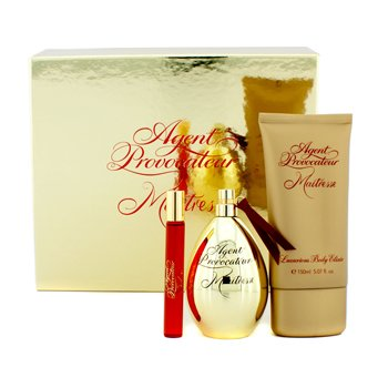 Agent Provocateur Maitresse Coffret: Eau De Parfum Spray 100ml/3.3oz + Eau De Parfum Roll On 10ml/0.34oz + Luxurious Body Elixir 150ml/5.07oz 3pcs