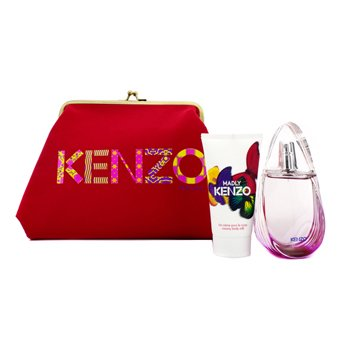 KenzoMadly Coffret: Eau De Toilette Spray 50ml/1.7oz + Creamy Body Milk 50ml/1.7oz + Pouch 2pcs+1pouch