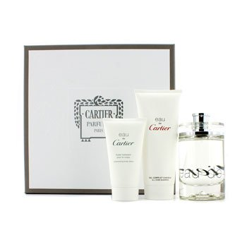CartierEau De Cartier Estuche: Eau De Toilette Spray 100ml/3.3oz + Loci�n Corporal Hidratante + Champ� Para Todo 100ml/3.3oz 2pcs