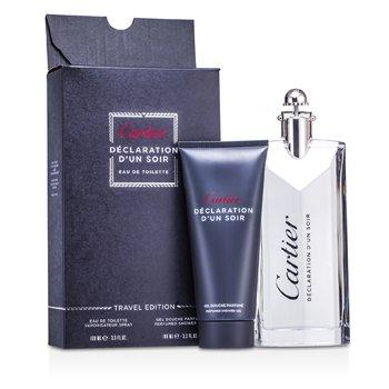 Cartier Declaration d'un Soir Coffret: EDT Spray 100ml/3.3oz + Shower Gel 100ml/3.3oz 2pcs