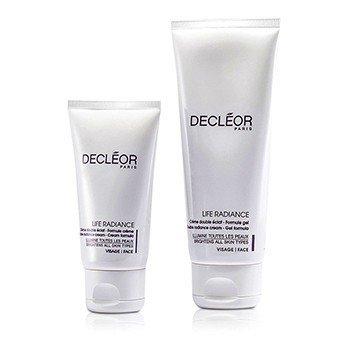 Decleor Life Radiance Set: Double Radiance Cream-Gel 100ml + Double Radiance Cream 50ml (Salon Product)  2pcs