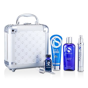Day CareAnti-Aging Kit System: Cleansing Complex + Treatment Sunscreen + Youth Complex + Active Serum + Box 4pcs+1Box