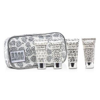 Lola Rose Energising Rock Crystal Travel Set: Shower Gel + Body Lotion + Hand & Nail Cream + Bubble Bath + Bag 4pcs+1bag