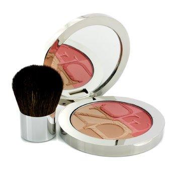 Christian Dior Diorskin Nude Tan Paradise Duo Iridescent Blush & Bronzing Powder (With Kabuki Brush) - # 001 Pink Glow 9.5g/0.33oz