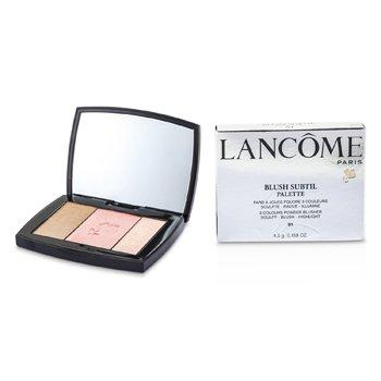 Lancome Blush Subtil Palette  3x Colours Powder Blusher 01 Rose Flush 4 5g 0 158