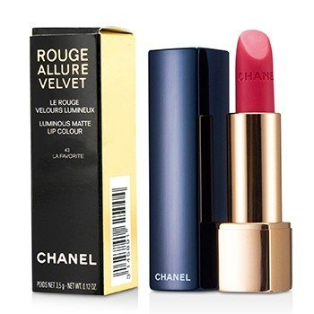 Chanel Batom Rouge Allure Velvet - # 43 La Favorite  3.5g/0.12oz