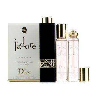 Christian DiorJ'adore Eau De Toilette dodatno punjivi Purse Spray 3x20ml/0.67oz