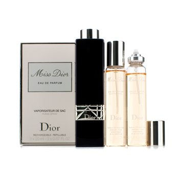 Christian DiorMiss Dior Eau De Parfum Spray de Cartera Repuesto (Nuevo Aroma) 3x20ml0.67oz