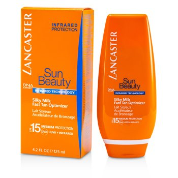 Lancaster Sun Beauty Шелковистое Молочко для Быстрого Загара SPF 15 (для Лица и Тела) 125ml/4.2oz