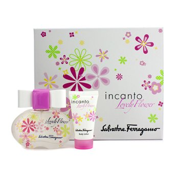Salvatore FerragamoIncanto Lovely Flower Coffret: Eau De Toilette Spray 50ml/1.7oz + Body Lotion 30ml/1oz 2pcs