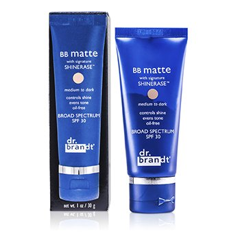 Dr. BrandtShinerase BB Matte Broad Spectrum SPF 30 - Medium to Dark (Oily/ Combination Skin) 30g/1oz
