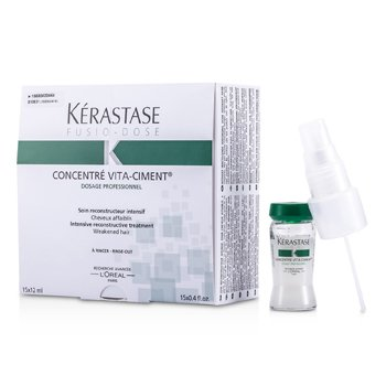 Kerastase Fusio-Dose Concentre Vita-Ciment Intensive Reconstructive Treatment (For Weakened Hair) 15x12ml/0.41oz