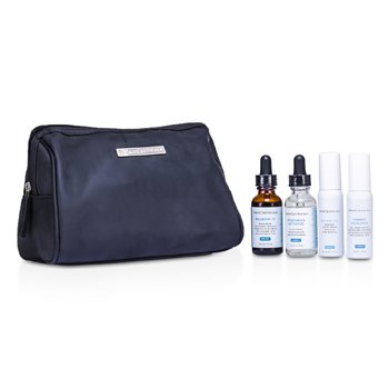 Skin CeuticalsAdvanced Brightening System Kit: Phloretin CF 30ml/1oz + Retexturing Activator 30ml/1oz + Pigment Regulator 30ml/1oz + Retinol 0.5 30ml/1oz + Bag 4pcs+1bag