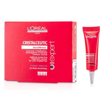 L'OrealProfessionnel Expert Serie - Cristalceutic Radiance-Protecting Treatment (For Color-Treated Hair) 6x12ml/0.4oz