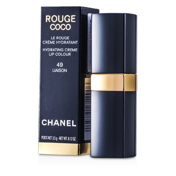 Chanel Rouge Coco Hydrating Creme Lip Colour - # 49 Liaison 3.5g/0.12oz at StrawberryNET.com - Skincare-Makeup-Cosmetics-Fragrance