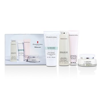 Elizabeth ArdenSkincare Set: 2-in-1 Cleanser 150ml + Hydra-Splash Toner 200ml + Refining Moisture Cream 100ml + Hydrating Mask 100ml 4pcs