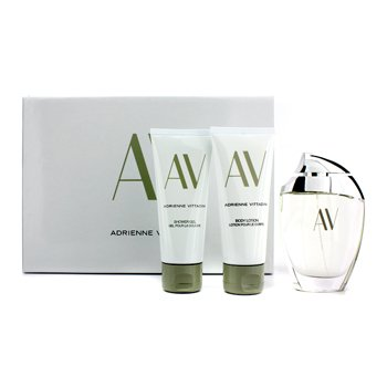 Adrienne Vittadini AV Coffret: Eau De Parfum Spray 90ml/3oz + Body Lotion 100ml/3.3oz + Shower Gel 100ml/3.3oz 3pcs