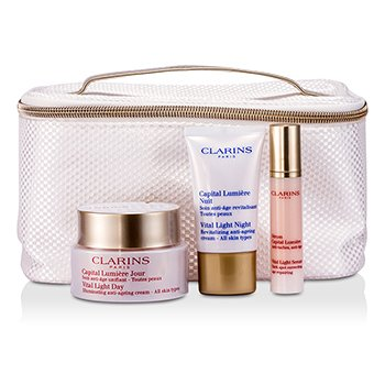 ClarinsVital Light ����� (��� ���� ����� ����): ������� ���� 50�� + ������ ���� 15�� + ��������� 10�� + ����� 3pcs+1bag