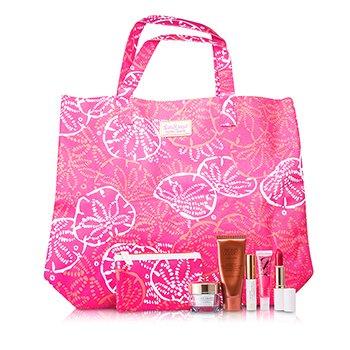 Estee LauderTravel Set: DayWear Krem SPF15 + Bronze Goddess + Mascara + Leppestift #88 + H�y-Gloss #07 + Pouch + Bag 5pcs+2bags