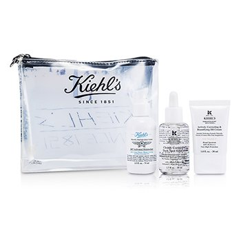 Kiehl'sBB Cream Set: 24/7 Activated Moisturizer-Pelembab + Clearly Corrective Dark Spot Solution + BB Cream + Tas 3pcs+1bag