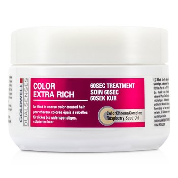 GoldwellDual Senses Color Extra Rich 60 Sec Treatment (For Thick to Coarse Color-Treated Hair) 200ml/6.7oz