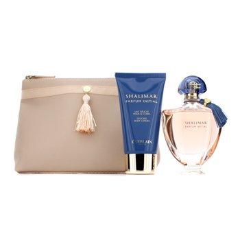 GuerlainShalimar Parfum Initial Coffret: Eau De Parfum Spray 60ml/2oz + Delicate Body Lotion 75ml/2.5oz + Bag 2pcs+1bag