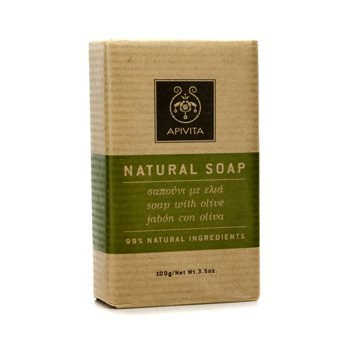 Apivita Natural Soap with Olive (Ideal For All Skin Types) 100g/3.5oz