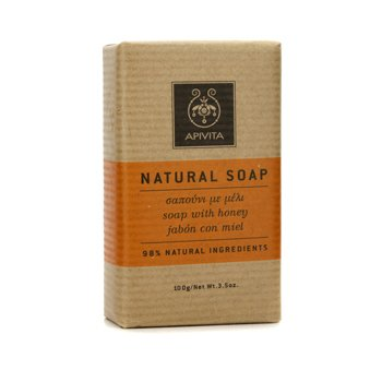 Apivita Natural Soap with Honey (Ideal For All Skin Types) 100g/3.5oz