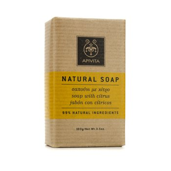 Apivita Natural Soap with Citrus (Ideal For All Skin Types) 100g/3.5oz