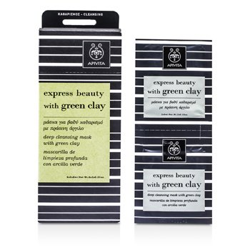 Apivita Express Beauty Deep Cleansing Mask with Green Clay 6x(2x8ml)