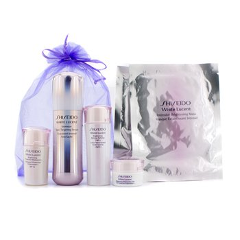 ShiseidoWhite Lucent Set: Intensive Spot Targeting Serum 30ml + Refining Softener Light N 25ml + Protective Moisturizer N SPF16 15ml + Moisturizing Gel N 10ml + Intensive Brightening Mask x 2 6pcs